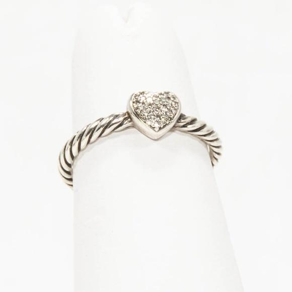 ccb2e55447bff1 David Yurman Jewelry - David Yurman Petite Pavé Heart Ring with Diamonds